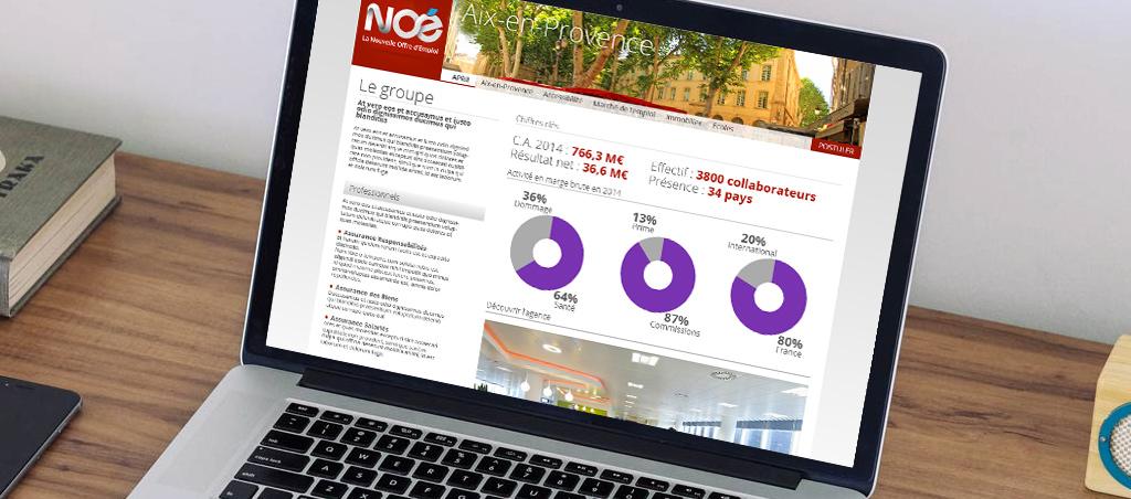 Site internet Noé pour consultation bureau