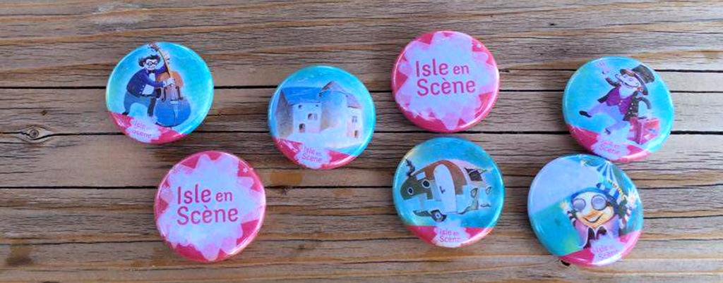 Badges festival Isle en Scène