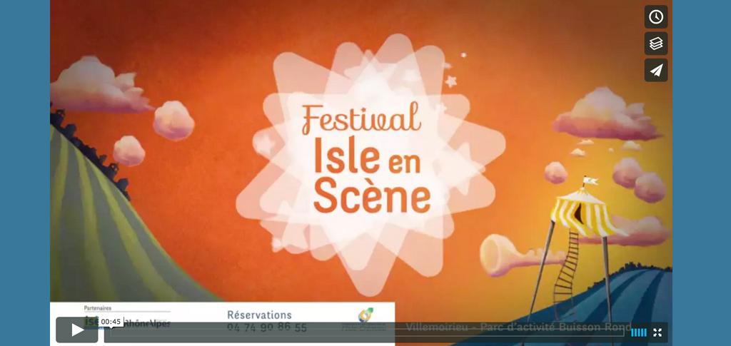 Visualisez l'animation graphic-motion du festival Isle en Scène