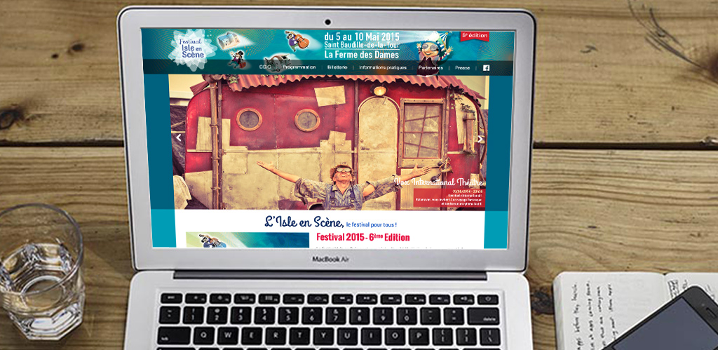 site internet de l'Isle en Scène 2015