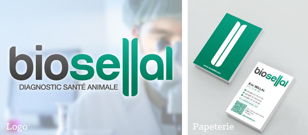 Logo BioSellal, cartes de visite